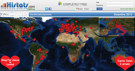 Look at the spread Cantogesù in Europe and the whole World